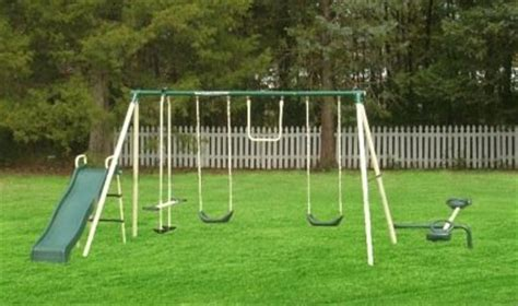 kmart metal swing sets flexible flyer ground anchor kit for metal frame swing