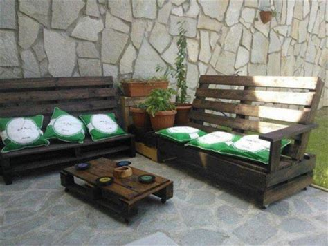 Pallet Cushion Ideas by Pallet Bench With Cushion Stylish Ideas Pallets Designs