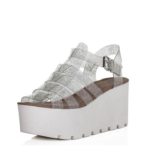 buy surf cut out flatform platform sandal shoes clear