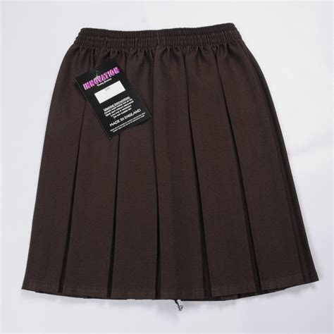 box pleat skirt brown from pauls discount clothing uk