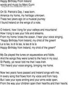 song and ballad lyrics for happy birthday