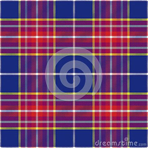 scottish tartan seamless pattern blue and red vector vector seamless blue and red scottish tartan stock vector