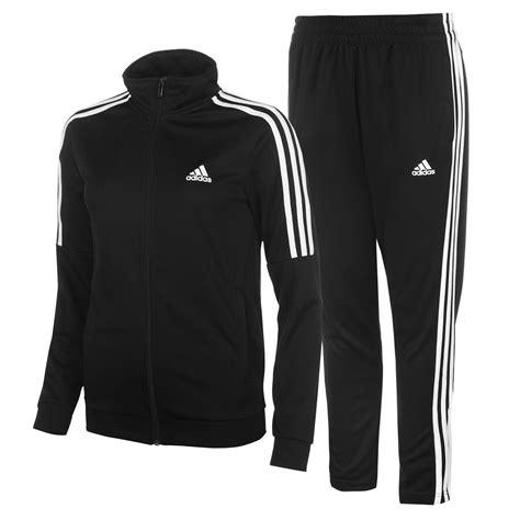adidas tracksuit adidas womens tiro tracksuit poly zip full stripe warm