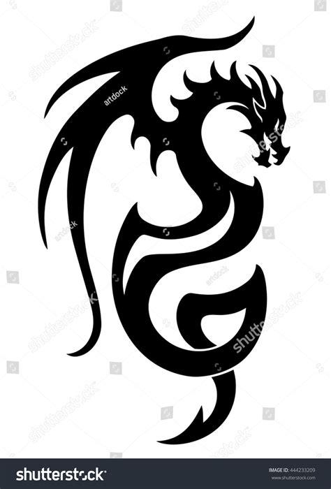 dragon boat clipart black and white vector illustration dragon tattoo design black stock