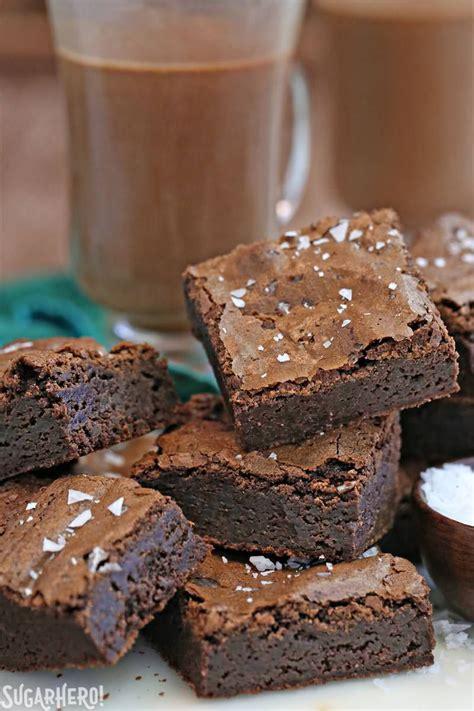 Salted Fudge Brownies   SugarHero
