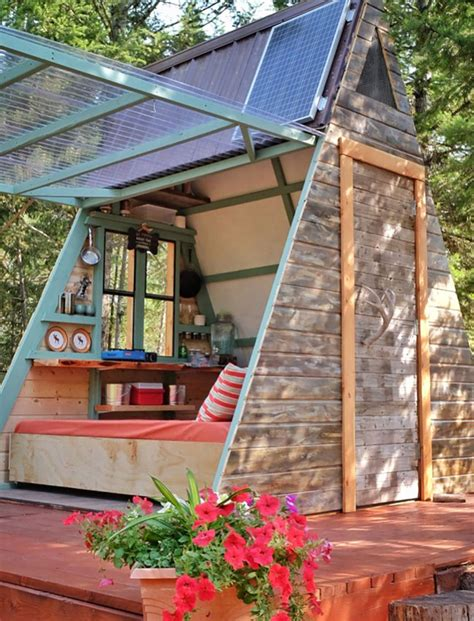 a frame tiny guest cabin in montana built for 700