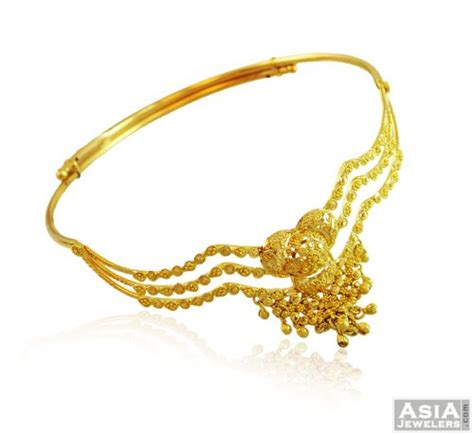bajuband pattern 22k gold designer bajuband ajbb57958 22k gold designer
