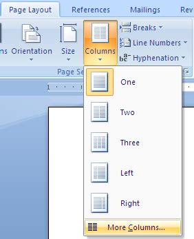 microsoft word two column layout using and formatting columns in microsoft word legal