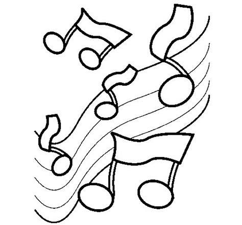 imagenes para pintar musica dibujo de notas en la escala musical para colorear