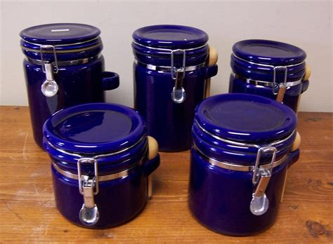 Cobalt Blue Kitchen Canisters by Canisters Marvellous Cobalt Blue Canisters Cobalt Blue