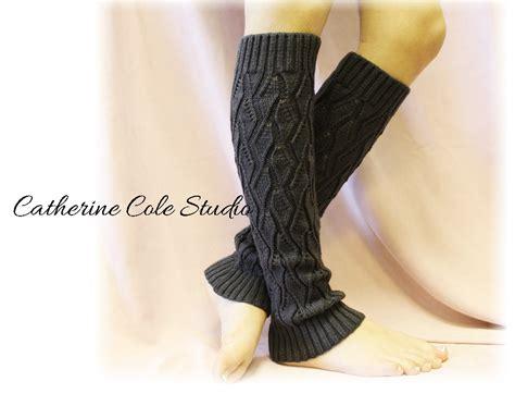 knitting leg warmers charcoal basic open crochet knit leg warmers womens knit