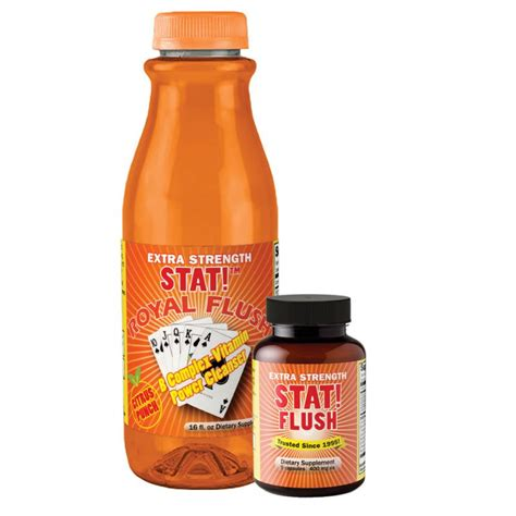 Stat Detox Pills by No Doubt Combo Royal Flush Liquid Flavor Choice Stat