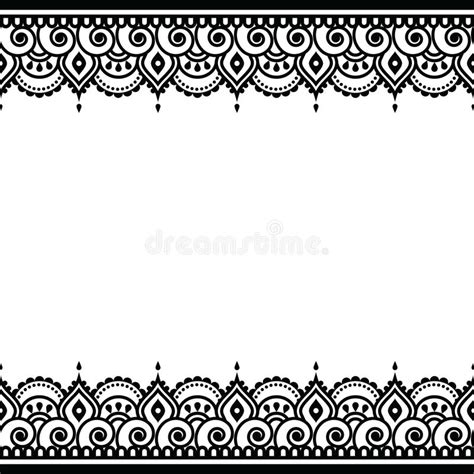 mehndi indian henna tattoo design greetings card lace