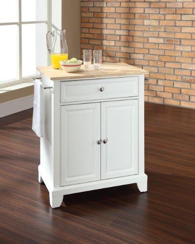 white kitchen island with natural top how do you want crosley furniture newport natural wood top