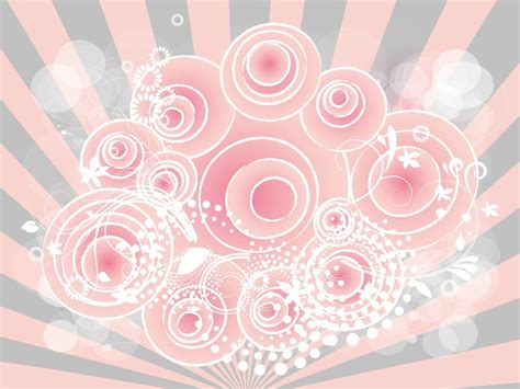 girly wallpaper ai nature floral circles girly background vector free download