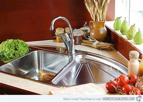 15 cool corner kitchen sink designs home design lover with sinks 15 cool corner kitchen sink designs fox home design