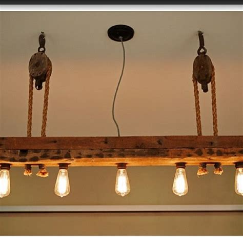 Pulley Chandelier 25 Best Ideas About Wood Lights On Pinterest Interior