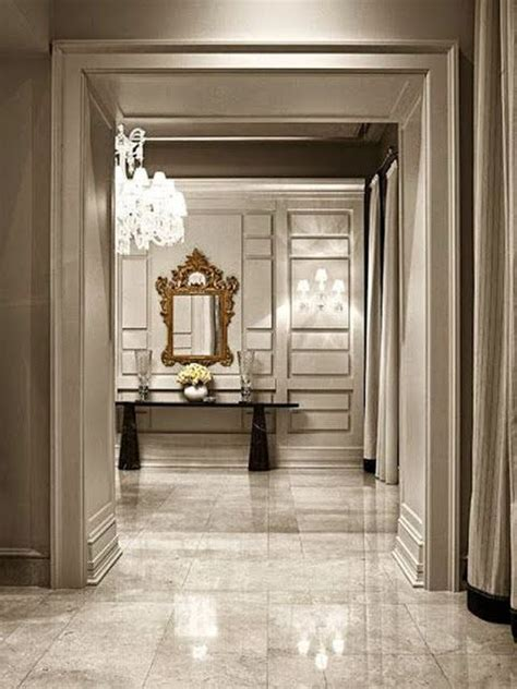 Beautiful Marble Floor In The Foyer | beautiful large open foyer marble tile floors huge crystal
