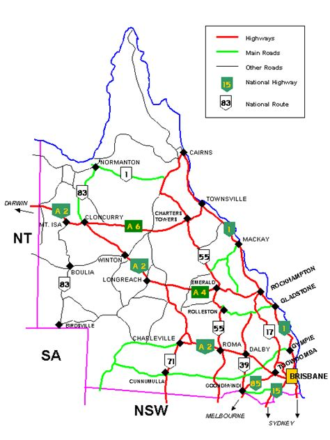 printable qld road map queensland wikiwand