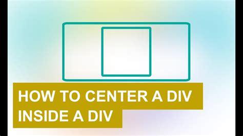css div inside div how to center a div inside a div with html and css