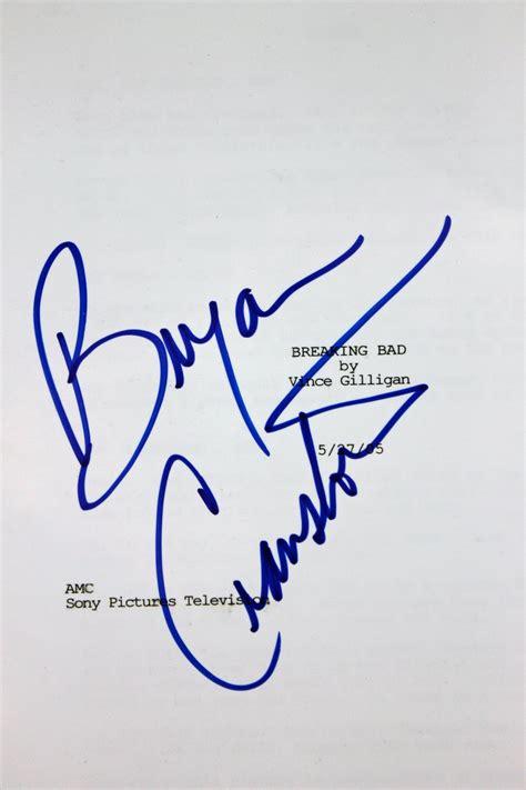 bryan cranston autograph lot detail bryan cranston signed quot breaking bad quot script