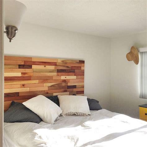 como hacer cabeceros de cama baratos de madera