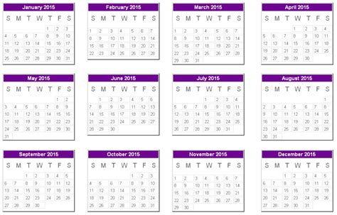 yearly 2015 calendar template here is a printable edition of the calendar year 2015