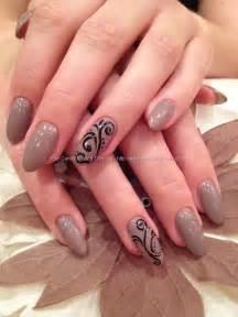 And black freehand nail art nailart nails nail technician elaine
