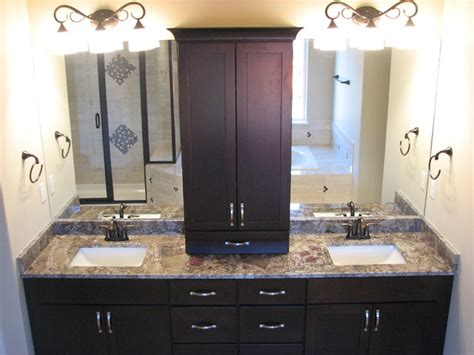 espresso bathroom furniture chocolate bordeaux granite on cherry espresso cabinets