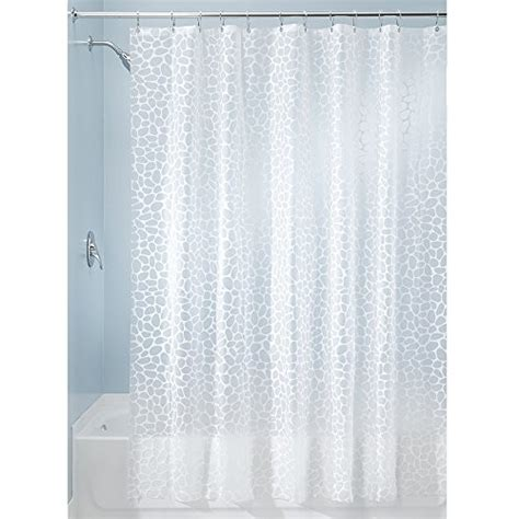 duschvorhang englisch interdesign 180 x 200 cm pebblz shower curtain white by