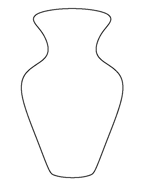 Vase Template by Vase Pattern Use The Printable Outline For Crafts Creating Stencils Scrapbooking And More