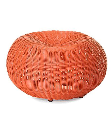 wicker pouf ottoman small outdoor wicker ottoman pouf 19 189 quot dia x 12 quot h in