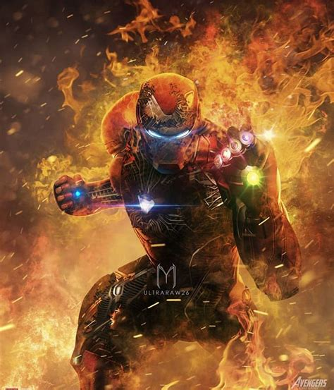 marvel fan art avengers endgame infinity war iron man tony