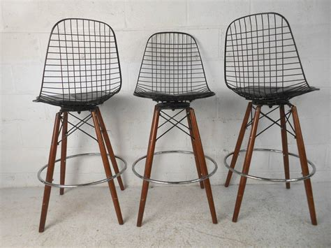 century furniture bar stools set of four mid century modern barstools in the style of