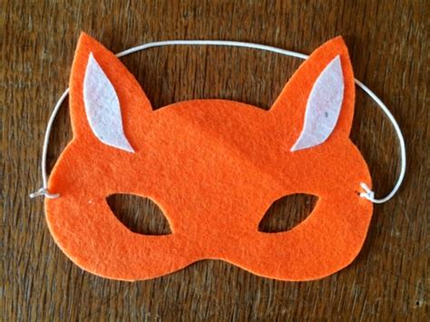 How To Make A Fox Mask Out Of Paper - no sew fox mask my kid craft