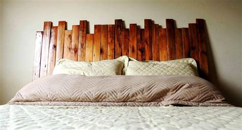 Wood Slat Headboard by 130 Inspired Wood Pallet Projects