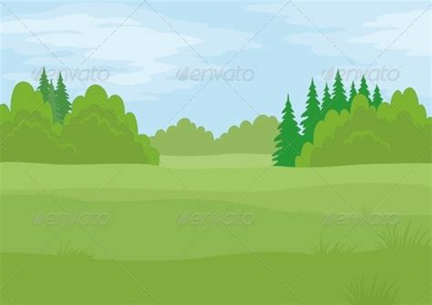 Jungle Tree Wall Stickers landscape summer forest graphicriver