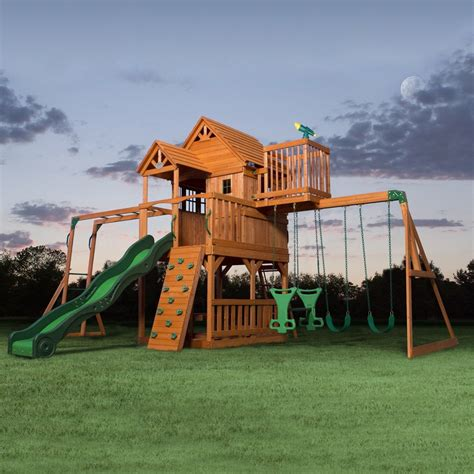 play sets for backyard skyfort ii wooden swing set playsets backyard discovery
