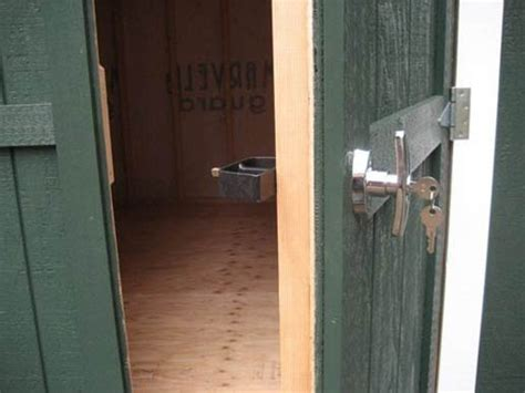 build storage shed on skids storage shed door latches