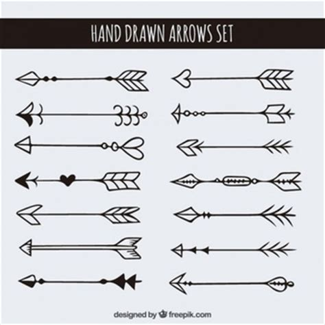 hand drawn arrows removable wallpaper arrows weapons vectors photos and psd files free download