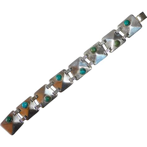 980 sterling silver turquoise bracelet from bejewelled