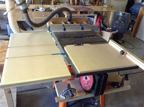 contractor table saw fence upgrade ridgid table saw upgrade by brandonbozo lumberjocks