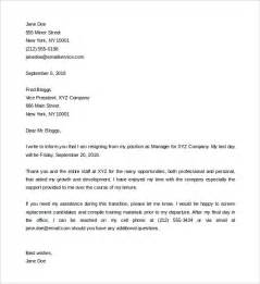 Notice Resignation Letter Template by Two Weeks Notice Letter 31 Free Word Pdf Documents Free Premium Templates