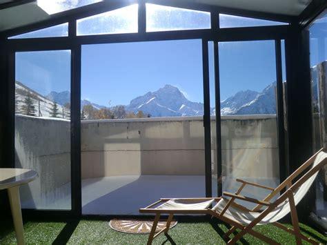 les 2 alpes 1800 studio 6 pers 30m2 v 233 randa 8m2 terrasse - Veranda 8m2