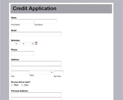Credit Application Form For Builders Warehouse formstack form builder html autos weblog