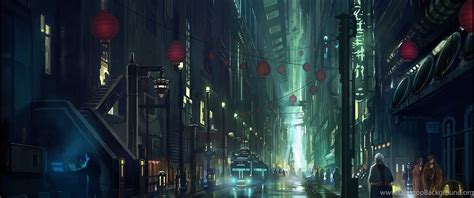 anime city scenery wallpapers desktop background