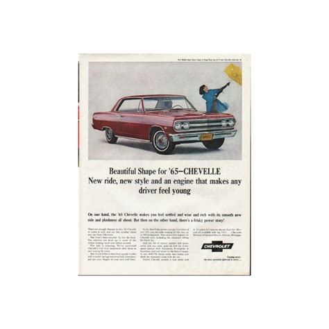 advertisement for new year 1965 chevrolet chevelle vintage ad quot new style quot model