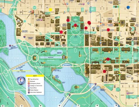 washington dc map monuments walking map of washington dc monuments pictures to pin on