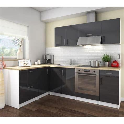 cuisine complete cdiscount cosy cuisine compl 232 te coloris laqu 233 gris 280 cm achat