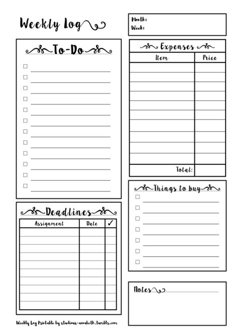 daily planner printables tumblr weekly planner printable tumblr